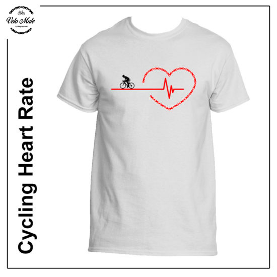 Cycling Heart Rate T-Shirt Velo Mule