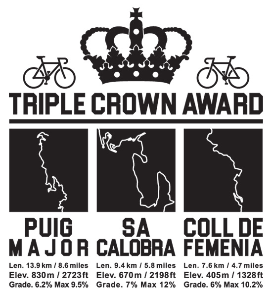 Cycling Triple Crown Mallorca – Puig Major Sa Colabra and Coll De Femenia T-Shirt Velo Mule