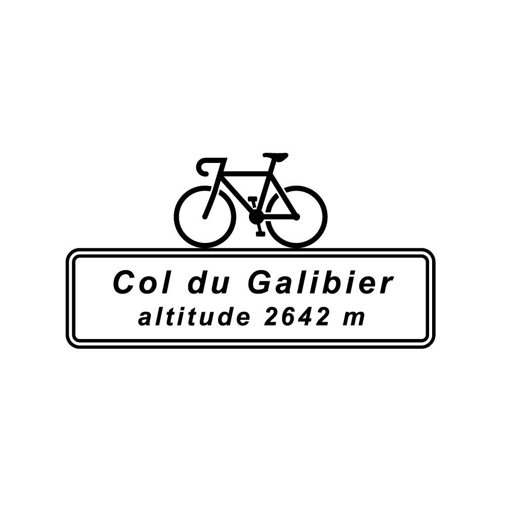 Col du Galibier Altitude Cycling T-Shirt Velo Mule