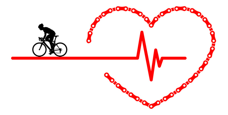 Cycling Heart Rate Pulse t-Shirt