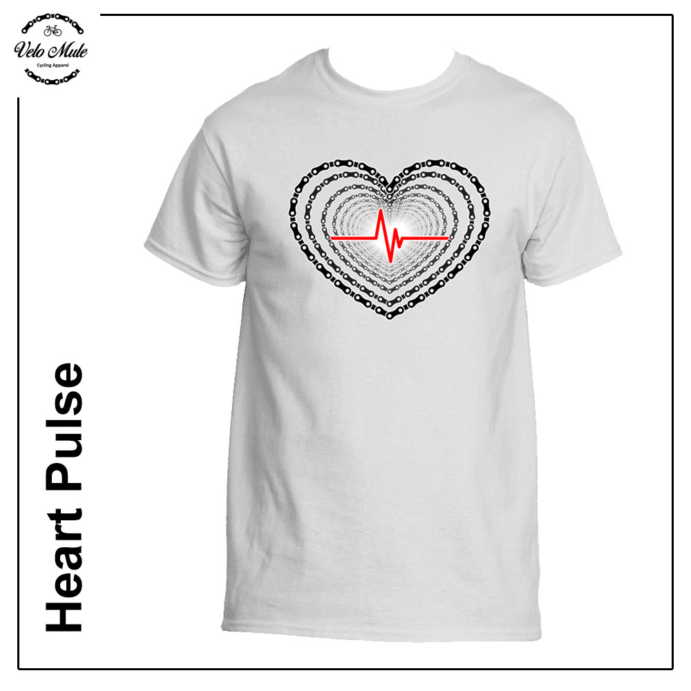 Heart Pulse Cycling T-Shirt Velo Mule