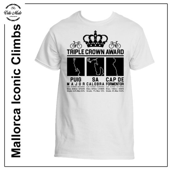 Triple Crown Award Mallorca Cycling T-Shirt - Puig Major - Sa Calobra - Cap de Formentor