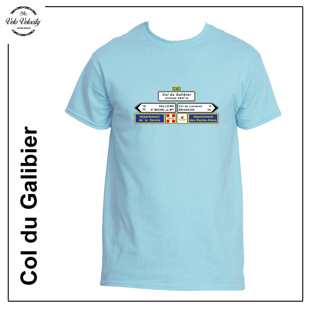 Velo Mule Cycling Col du Galibier T-Shirt