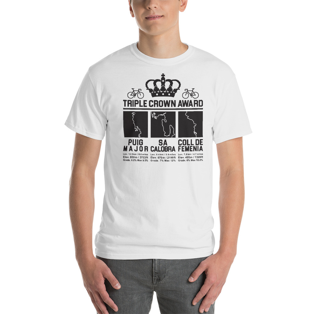Triple Crown Award Mallorca Cycling T-Shirt - Puig Major - Sa Calobra - Coll de Femenia