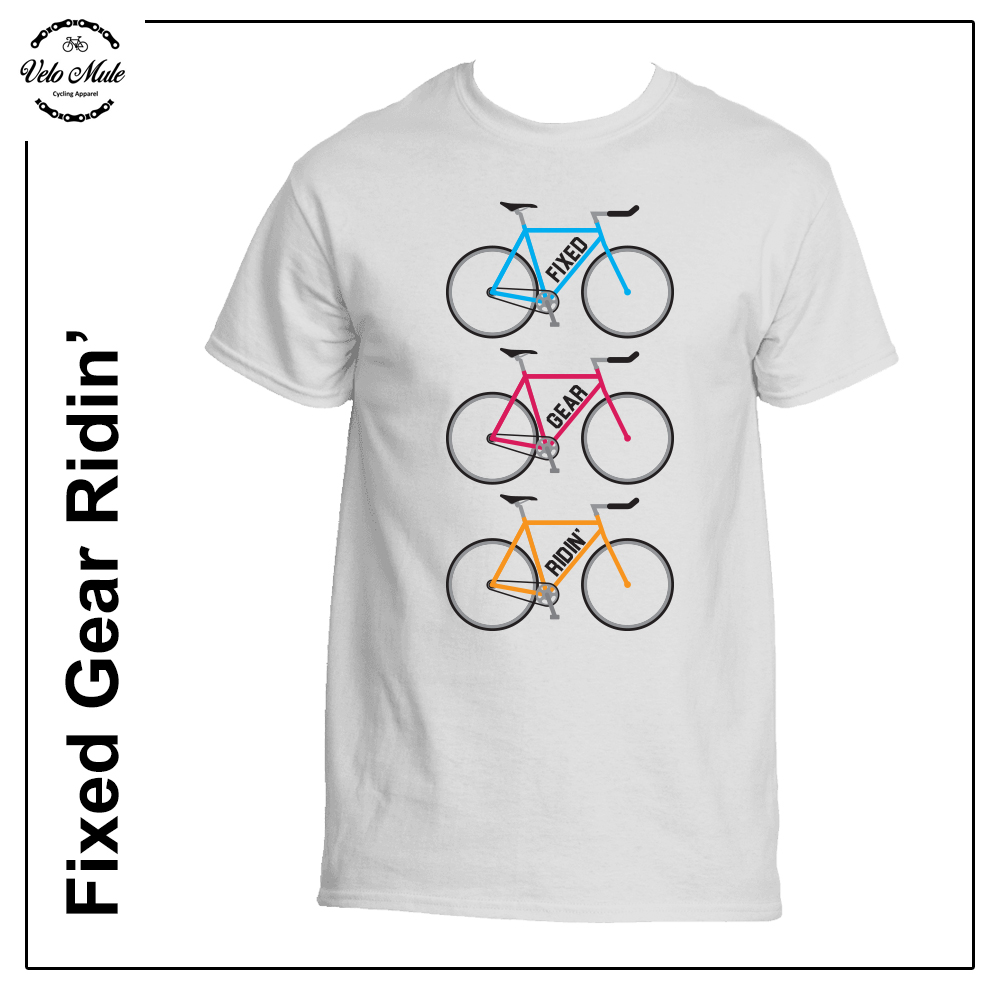 Fixed Gear Ridin' Cycling T-Shirt Velo Mule
