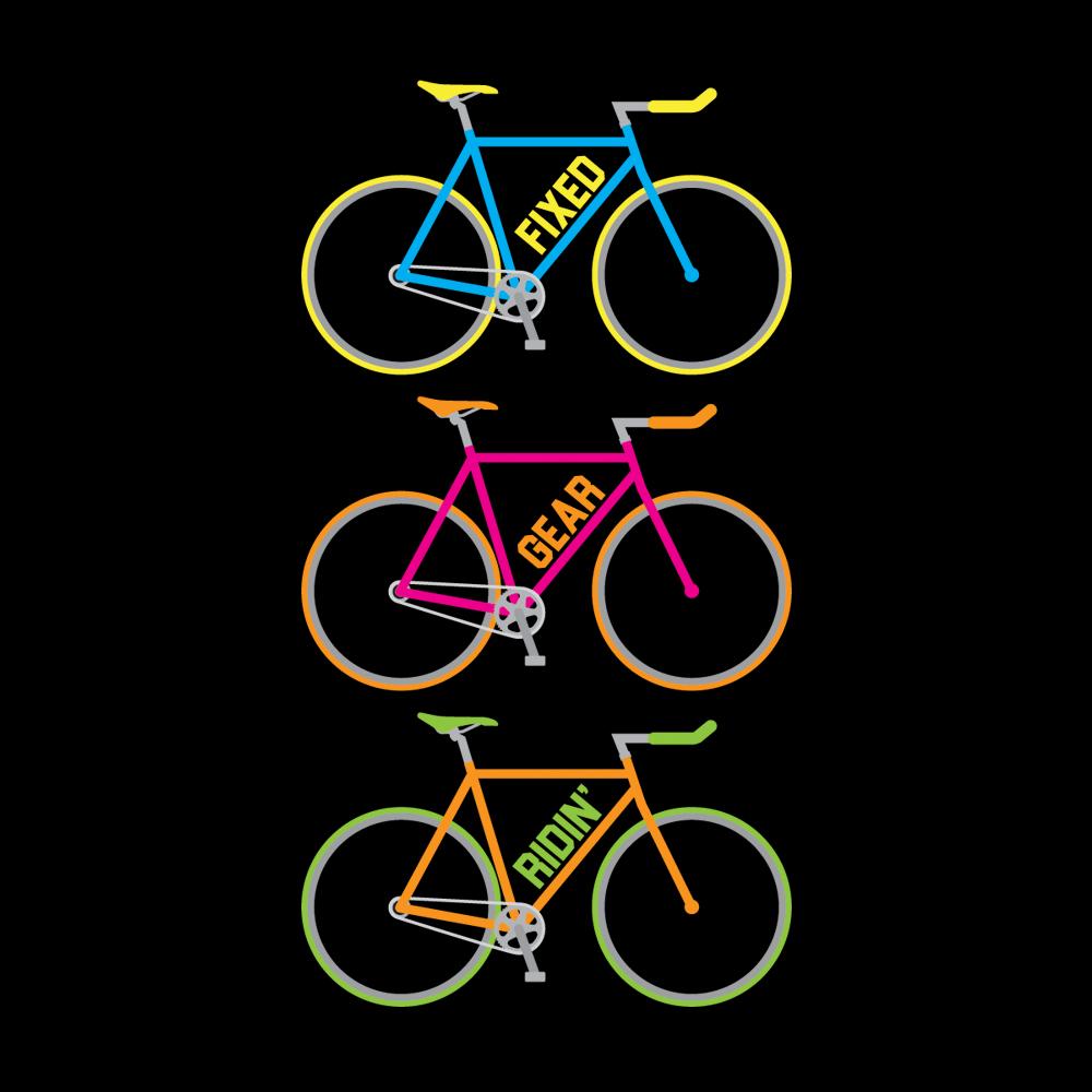 Velo Mule Fixed Gear Ridin' Multi Cycling T-Shirt