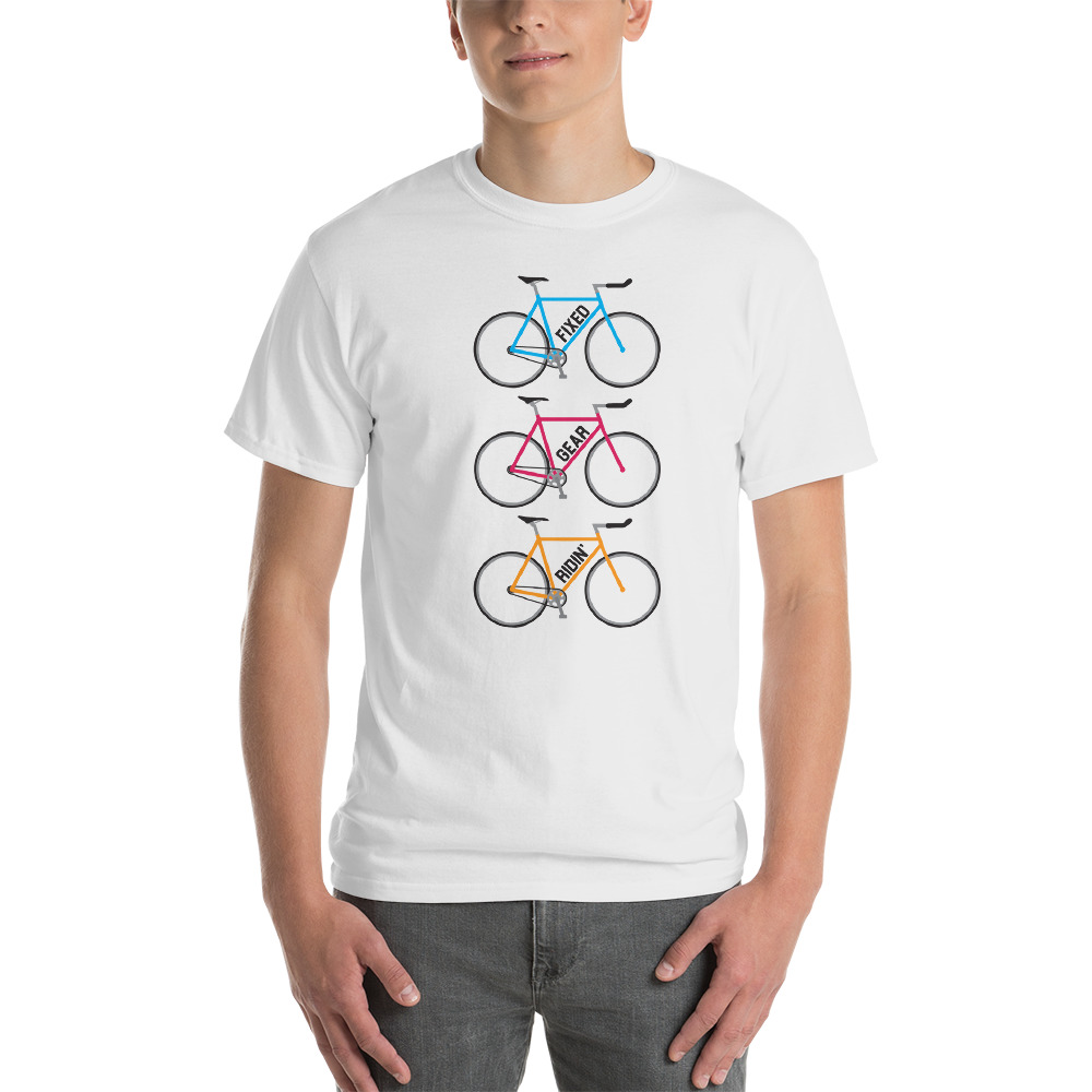 Fixed Gear Ridin' Cycling T-Shirt