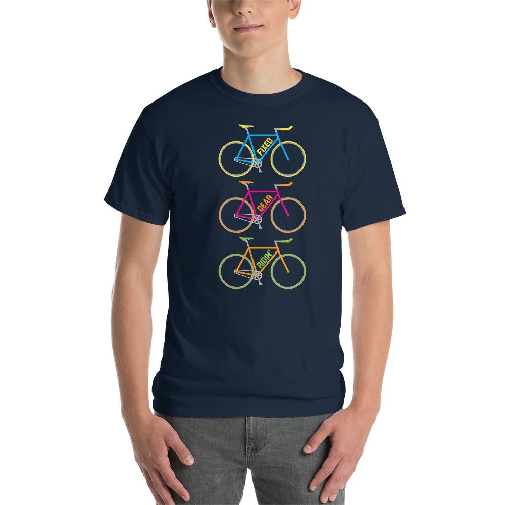 Velo Mule Fixed Gear Ridin' Mutlicolour Cycling T-Shirt