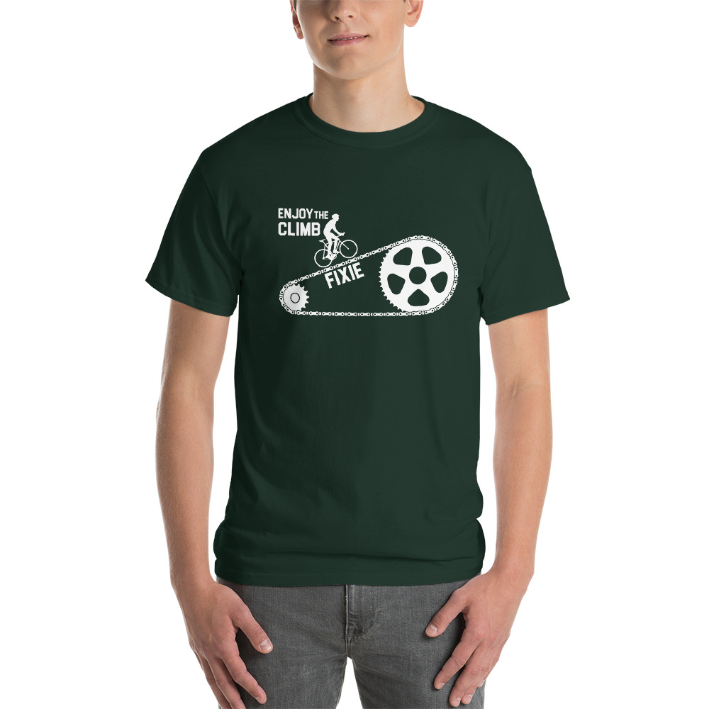 Velo Mule Fixie Enjoy The Climb Cycling T-Shirt