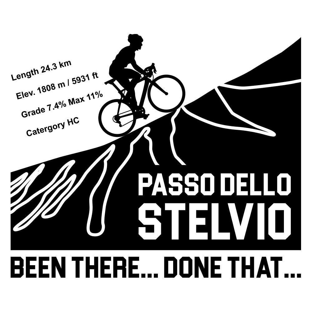 Velo Mule Passo Dello Stelvio Cycling T-Shirt Design
