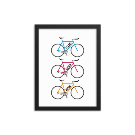 Velo Mule Fixed Gear-Ridin Cycling Art Print