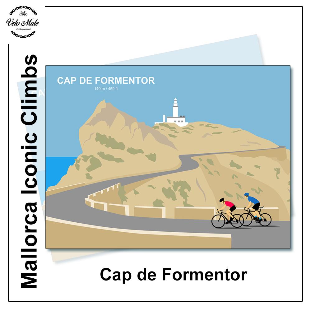 Velo Mule Mallorca Cap De Formentor Cycling Print