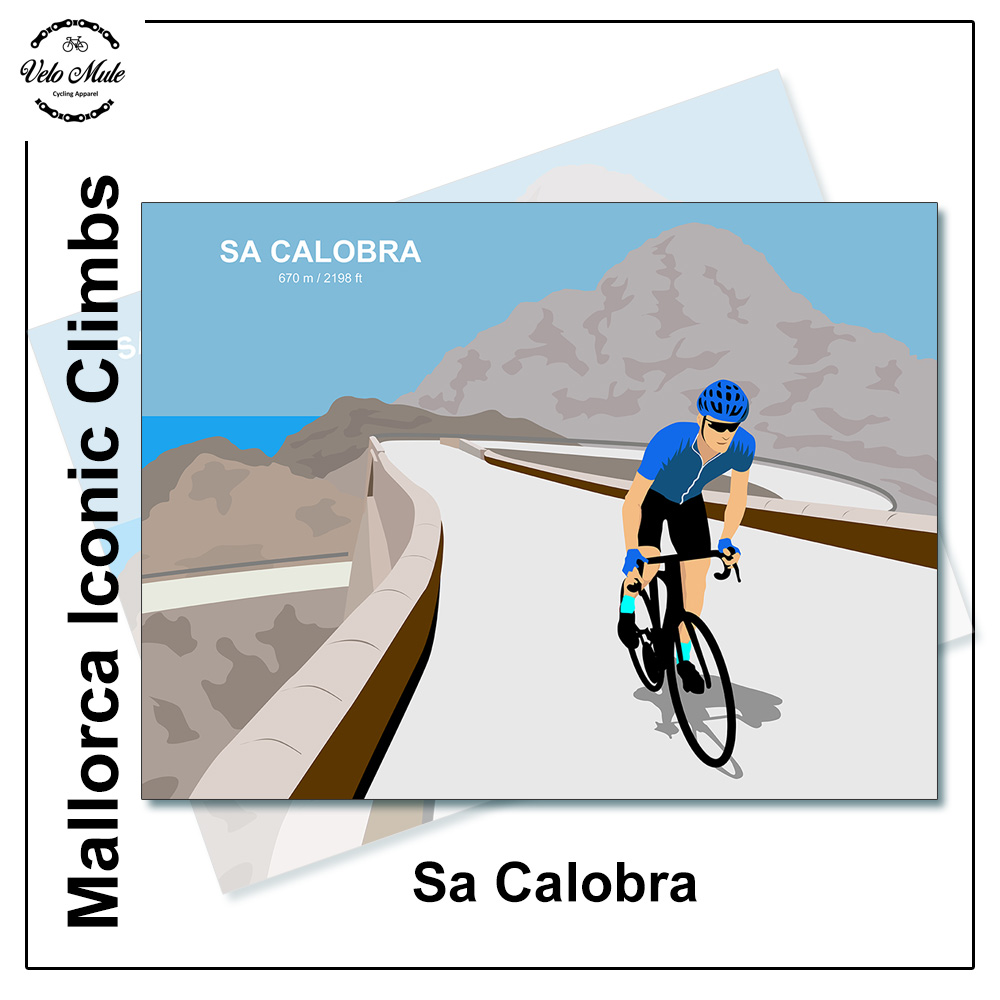 VeloMule Mallorca Sa Calobra Cycling Art Print