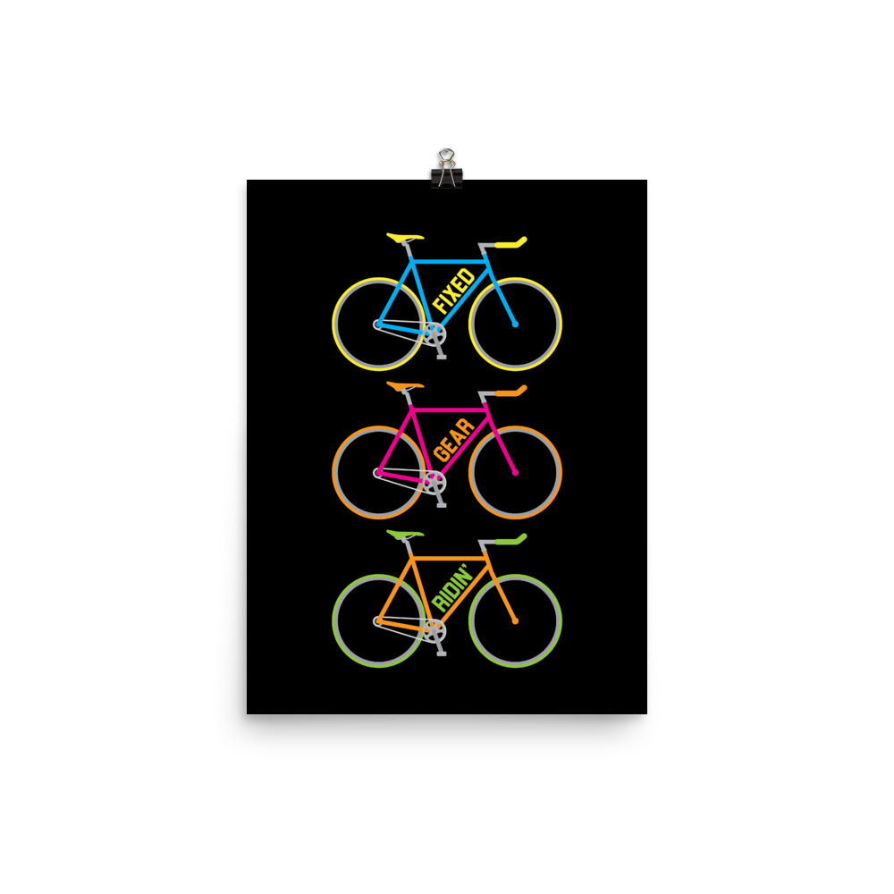 Velo Mule Fixed Gear-Ridin Cycling Art Print