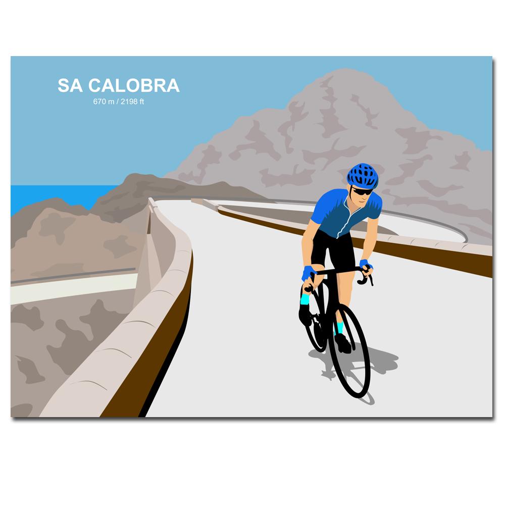 Velo Mule Mallorca Sa Calobra Cycling Art Print
