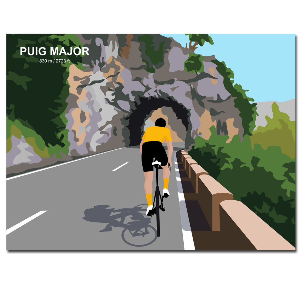 Velo Mule Mallorca Puig Major Cycling Art Print